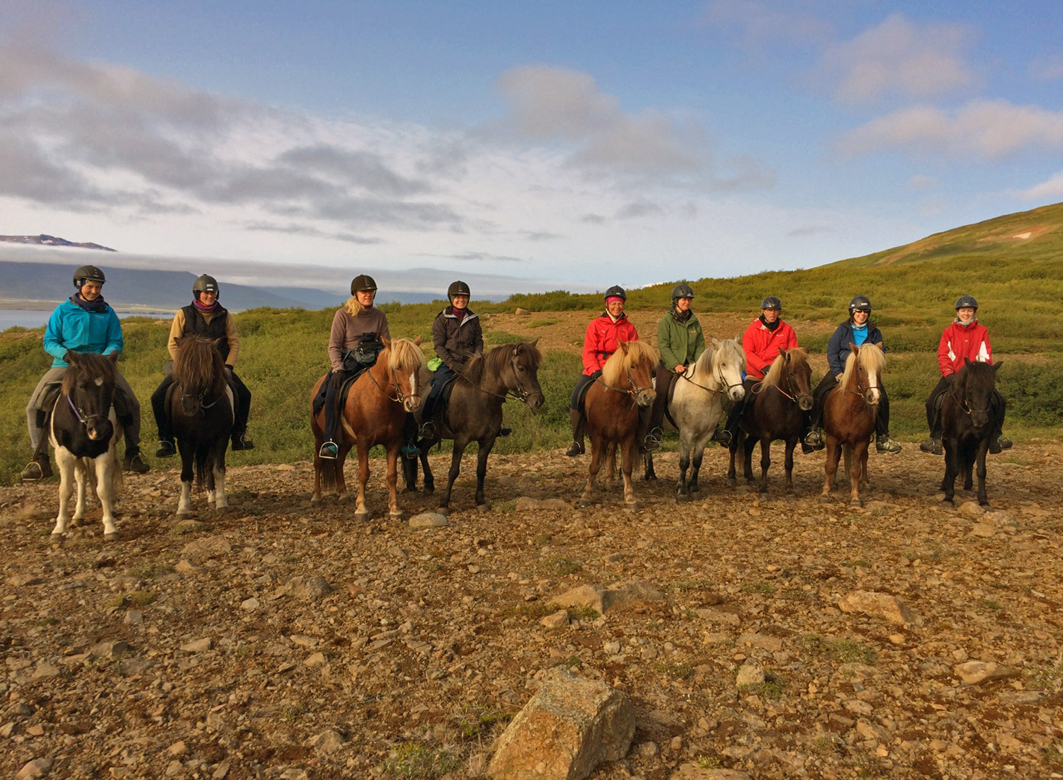 Riders in Iceland
